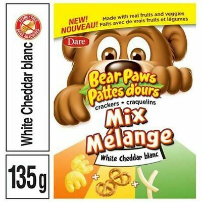 Dare, Bear Paws Crackers Mix, White Cheddar, 135g/4.8oz., {Imported from Canada}