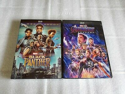 Avengers End Game and Black Panther 2-Movie DVD Bundle Free Shipping!