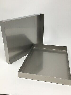 Lot Of 12 Used Medical Laboratory Metal Stainless Steel Cassette Trays Cases Lab