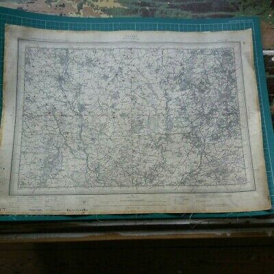 1909 Ordnance survey Map of Dudley, Wolverhampton Original Antique 19