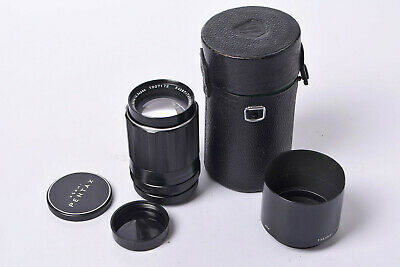 Original Pentax Takumar 135mm f3.5 Telephoto lens - Pentax Case, Caps & Lenshood