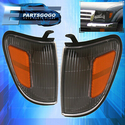 For 1997-2000 Tacoma Replacement Black Housing Amber Reflector Corner Lamps