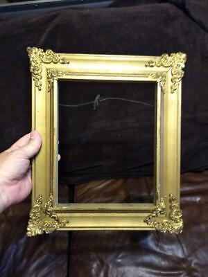 Antique Wood Filigree Metal Ormolu Picture Frame for Photograph or Oil Painting