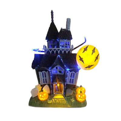 Halloween Prop Haunted House Glittered Table-Top Spooky Sound Light Up
