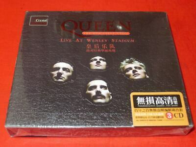 QUEEN (THE DVD COLLL CTION) LIVE AT WENLEY STADIVM  (3CD Box Set)