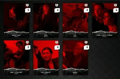 Topps Walking Dead Card Trader Unsteady Red Set of 7 cards  Digital
