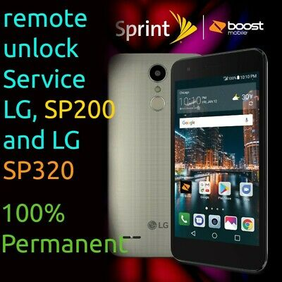 Unlock LG Tribute Dynasty SP200 & LG X Charger SP320 Sprint Boost Mobile Remote