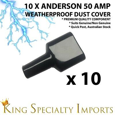 10x Weatherproof Anderson Style 50A Plug dust cable sheath cover BLK 50A/50 AMP
