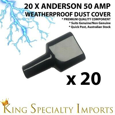 20x Weatherproof Anderson Style 50A Plug dust cable sheath cover BLK 50A/50 AMP