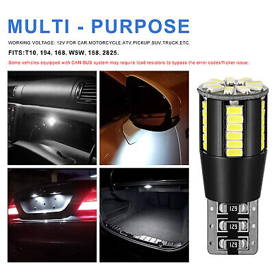 4x T10 BULBS 5SMD LED SIDELIGHTS CANBUS WHITE MERCEDES C CLASS W204 2007-2011