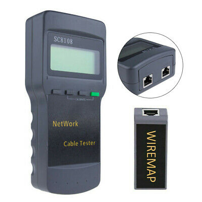SC8108 Portable Network Tester LAN Phone Cable Length Meter RJ45 Test Tool New