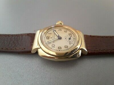 Rolex Oyster Vintage Chronometer Gold Watch With Hooded Lugs