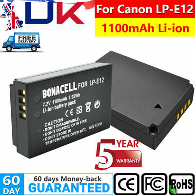 2x LP-E12 Battery + LCD Charger Set for Canon EOS M M50 M100 M10 100D Camera UK