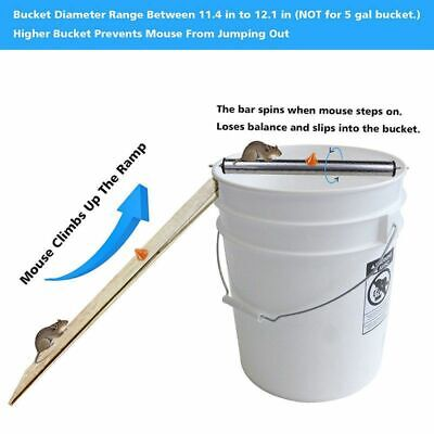 Mice Log Rolling Mouse Trap Bucket Pest Roller Rats Stick Rodent Spin Mousetrap