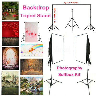 Studio Photography Softbox Kit Light Stand Tripod Support