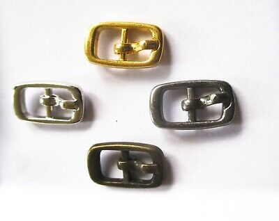 Buckles to fit 6mm straps 4 colours for shoes, dolls, toys, cases