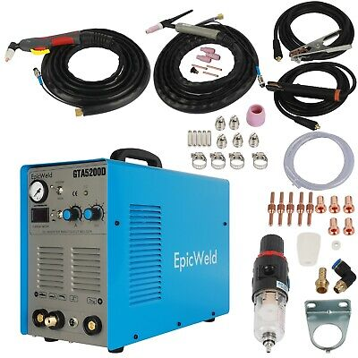 Combo Plasma Cutter and Tig Welder 50 / 200 Amps Foot Pedal Included Stick Weld