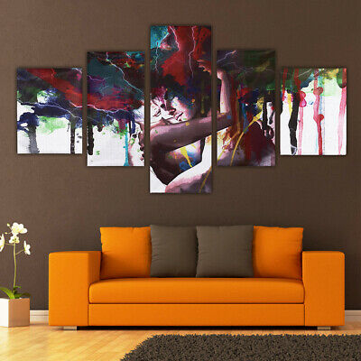 5Pcs Abstract Couple Hug Canvas Print Art Oil Painting Picture Home Wall