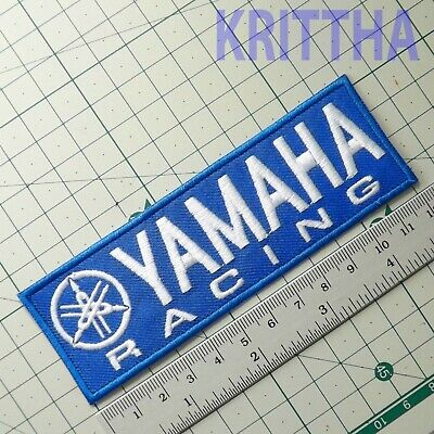 "4.3/4""x1 pc. blue yamaha bike motogp motor racing embroidered iron on sew patch"