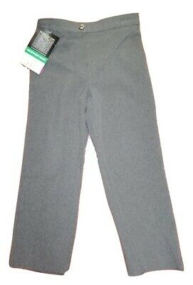 NEW Girls BHS Grey School Trousers Uniform Pull Ups Elastic Waist