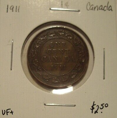 Canada George V 1911 Large Cent - VF+