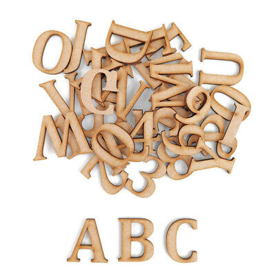 Wooden Jigsaw Letters /& Numbers 3cm Laser Cut Embelishments Shapes MDF