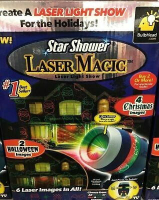 Christmas Star Shower Window Wonderland Projector Holiday System