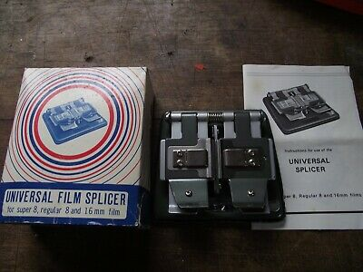 VINTAGE UNIVERSAL FILM SPLICER 8mm & 16mm BOXED WITH INSTRUCTIONS MADE IN JAPAN