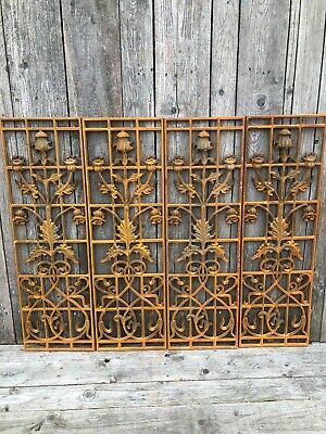 Cast Iron Grill Railing sections decorative Garden panel after Rennie Mackintosh