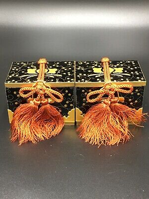 Japanese Hina Doll Lacquer ware Miniature Furniture Vtg Chest Box Wooden 2 boxes