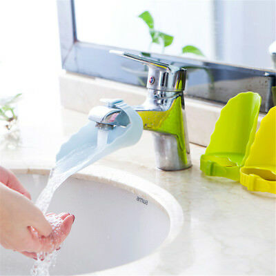 1X Plastic Baby Water Tap Faucet Extender Toddler Kids Hand Washing Accessory~GN