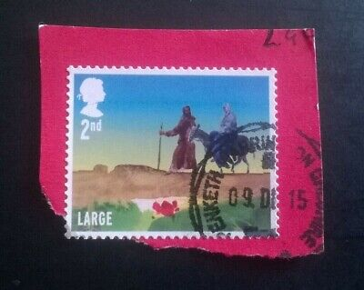 1 USED GB 2015 Christmas Nativity 2nd class LARGE STAMP SG 3773 CDS POSTMARK