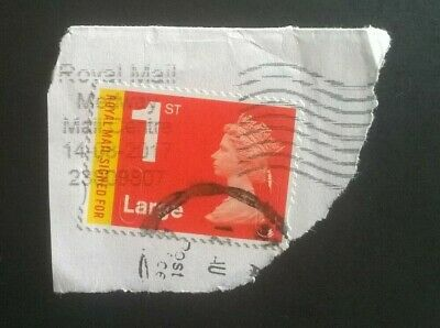 1 Used Gb Royal Mail Signed For M16L Large Sgu3050 Machin 2016 Stamp 2 Postmarks