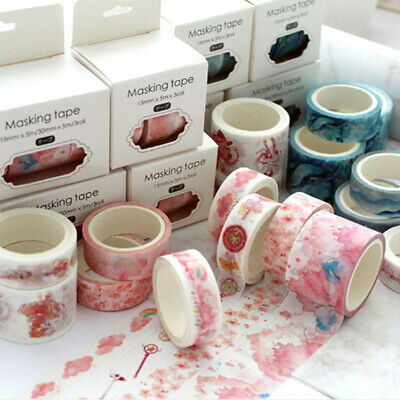 3Pcs/set theme papertape sakura decoration sticker scrap booking diary sticke~GN