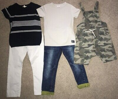 Boys NEXT Jeans & Chino Age 4-5 Years Bundle River Island Tops CAMO DUNGEREES