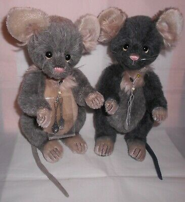 Charlie Bears RITZ and SNAX Mice Pair ~ Isabelle Lee ~ Limited Edition of 500