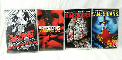 The Americans FX TV Show DVD LOT COMPLETE SEASONS 1-4 BOX SETS Keri Russell VGC