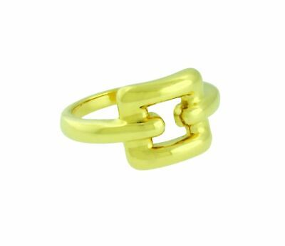 TIFFANY & CO Women's square ring In 18K Yellow Gold Size 4.5