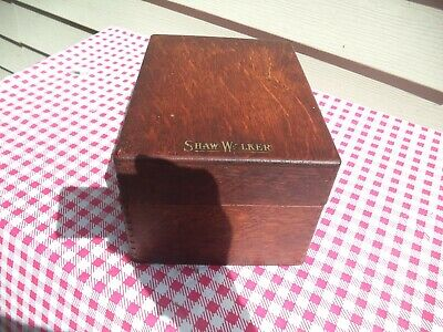 Nice Old Antique Wood Wooden Dove Tailed Shaw Walker Oak Advertising File Box