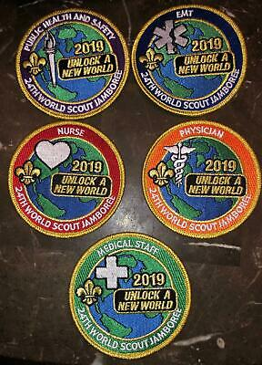 Medical Staff 5 Patch Staff Set 2019 24th World Scout Jamboree Mondial Official