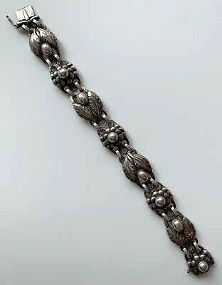 Georg Jensen Classic Sterling Silver Art Nouveau Bracelet #3, Early 20th Cen