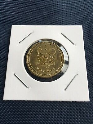 2016 Australian 100 Years of ANZAC One Dollar $1 Coin - Circulated