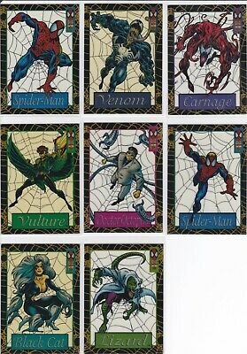 Fleer 1994 The Amazing Spiderman Suspended Animation Card Lot of 8