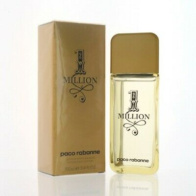 1 MILLION by Paco Rabanne 3.4 AFTER SHAVE LOTION NEW in Box for Men