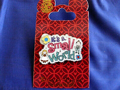 Disney * IT'S A SMALL WORLD * DOLLS & FLOWER SPINNER * New on Card Trading Pin