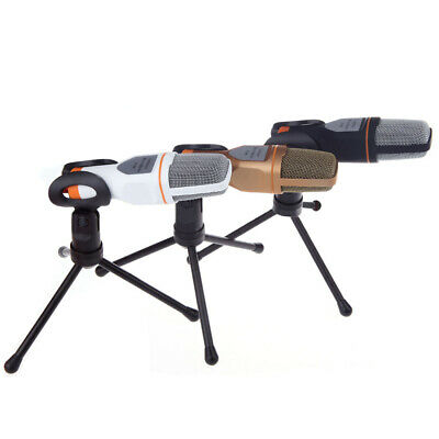 Professional 3.5mm Condenser Microphone PC Phone Recording Mic with Stand Tripod