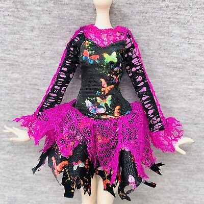 Freaky Fusion Bonita Femur Replacement Dress Pink Black Butterfly