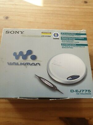 Sony D-EJ775 Personal CD Player, Discman, Boxed + Instructions