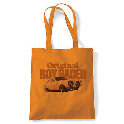 Mk1 Escort Original Boy Racer, Tote - Motoring Reusable Shopping Canvas Bag Gift