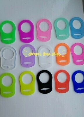 X3 MAM STYLE SILICONE DUMMY CLIP ADAPTER holder choose your own colours